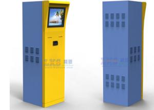 China Parking Ticket Vending Machine Half Outdoor Kiosk With Member Card Credit Card Reader on sale