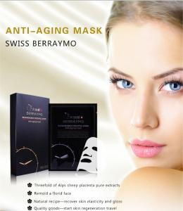 China Berraymo-skin care chinese beauty mask 100% Hyaluronic acid anti aging anti wrinkle collagen facial mask face care on sale