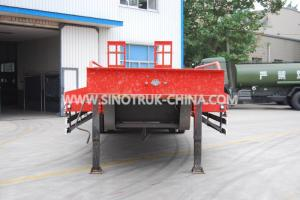 China 60T load capacity  low bed semi-trailer 3 axles 315/80R22.5  tyres  ABS  Optional JOST support leg on sale