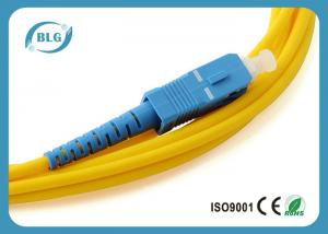 China High Transmission Rate Fiber Optic Patch Cord With Different Connectors High Precision on sale