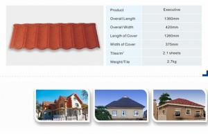 China Colorful stone coated metal roof tiles Ceramic stone steel roofing materials roofing tile chengda factory on sale
