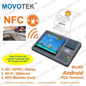 China Movotek android tablet rfid reader with WiFi, 3G and Thermal Printer on sale