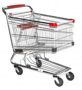 China latest style rubber wheel Supermarket Shopping Trolleys Warehouse Series HBE-W-15 on sale