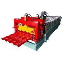 Grey Color Corrugated Sheet Roll Forming Machine With 2 Hydraulic Guillotine