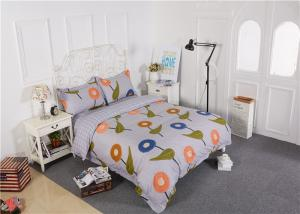 China Modern Long - Staple Cotton Bedding Sets Embroidery Flowers / Home Furnishing Textiles on sale