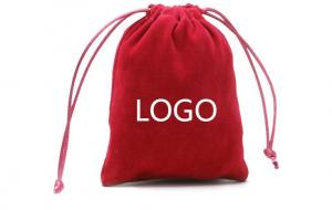 China Custom Logo Velvet Jewelry Packaging Pouches For Necklaces Rings and Earrings on sale