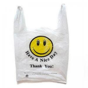 China Custom Printed Biodegradable Shopping Bags , PLA Degradable Plastic Bags on sale