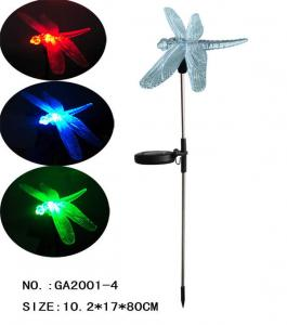 China solar garden stake changing color LED on sale