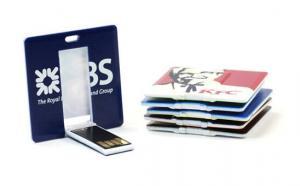 China Square Credit Card USB Flash Drives , 8GB 16GB Printing Card USB Drives on sale