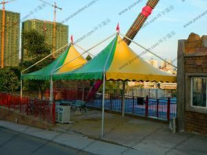 China Mini Colorful Gazebo Canopy Tent Green And Yellow High Peak Flame Retardant on sale