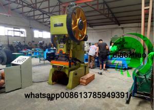 China Strips Barbed Wire Manufacturing Machine / Razor Wire Machine PLC Control on sale