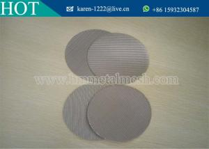 China 5 10 20 25 micron plastic extruder screens fine reusable stainless steel mesh filter disc on sale