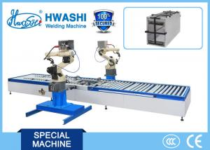 China Steel Panel Cabinet Arc Industrial Welding Robots Arm With Automatic Production Line feeder on sale