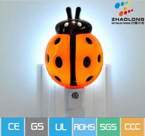 China Cartoon Ladybird Automatic LED Sensor Energy Saving Wall Night Lamp For Dark Corner on sale