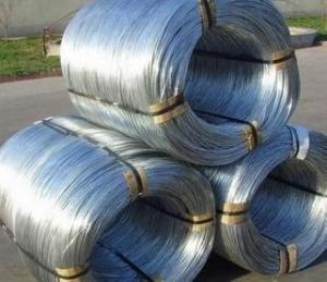 China Construction Hot Dipped Galvanized Steel Wire For Gabion Box  8-14 Gauge on sale