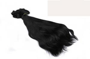 China Professional Natural Black Clip In Hair Extensions Brazilian Virgin Hair 15 Inch - 26 Inch on sale
