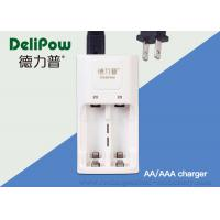 AA / AAA 2 Slots Rechargeable Batteries And Charger 3 Years Cycle Life