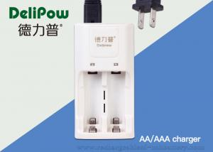 China AA / AAA 2 Slots Rechargeable Batteries And Charger 3 Years Cycle Life on sale