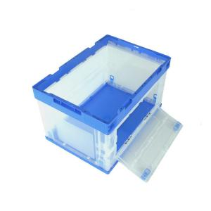 China Sides Open 100% Virgin PP Plastic Collapsible Storage Crate For Garment supplier