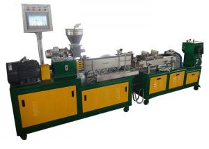 China PLC Control Mini Twin Screw Extruder , HDPE Extruder Machine One Year Warranty on sale