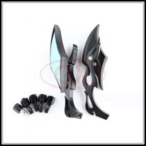 China Motorcycle Decoration Mirror Motocross Universal Dide Mirror Back View Mirror Rhombus on sale