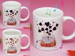 China Music Color Changing Mug on sale