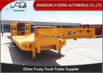 60ton 70 ton low bed semi trailer lowboy trailer for tractor truck head