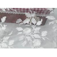 Tulle Tape Embroidery Mesh Lace Fabric 3d Flower With SGS Certificate