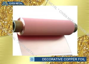 China ED Red Decorative Copper Sheets FOR for jewelry , insulated copper foil on sale