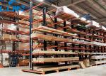 Operación llana de la carretilla elevadora de los trabajos del almacenamiento del metal del cargo del brazo industrial del estante 11