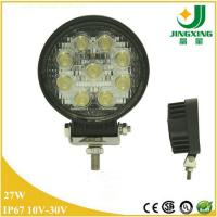 Spot Round  12V 24V Epistar 27W LED Work Light Offroad Truck Fog Driving Lamp 4X4 SUV ATV