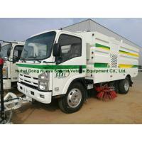Multifunctional ISUZU Road Cleaning Truck , Vacuum Broom Sweeper Truck