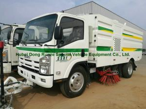 China Multifunctional ISUZU Road Cleaning Truck , Vacuum Broom Sweeper Truck on sale