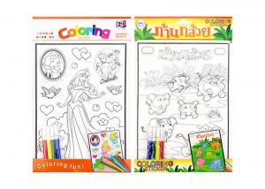 China 3D embossing activity coloring sticker kids sticker printing for children on sale