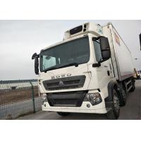 China 10 Wheel 30T HOWO Freezer Box Truck , Small Refrigerated Truck With Euro II Emission on sale