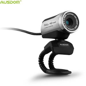 China Ausdom Hot Selling AW615 Plug And Play Adjustable Manual Focus HD 1080P USB Webcam With Microphone for PC Laptop Desktop on sale