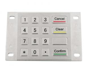 China IP65 vandal resistance stainless steel 4x4 rugged metal keypad for ATM machine on sale