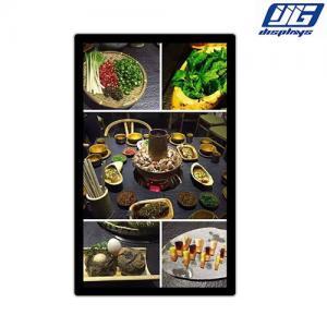 China 43inch Restaurant digital menu board menu digital signage display fast food menu display board digital screen player on sale