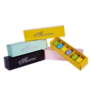 China Food Grade Macaron Packaging Boxes Corrugated Paper Archaize Style Eco Friendly on sale