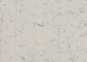 China Polished White Quartz Floor Tiles , Quartz Wall Panels Vanity Tops Mold Resistant on sale