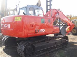 China Used EX120-5 Hitachi 12 Tonne Excavator?Japan No Oil Leak With 6 Cylinders on sale