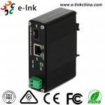 12 - fibra del solo modo del convertidor de Ethernet industrial de 48V 30W PoE medios sola