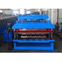 Double Layer Roll Forming Machine For Tile Shape And Plain Metal Roof Panels