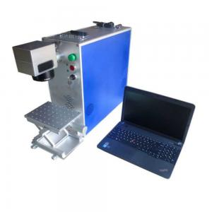 China Small Portable Fiber Laser Marking Machine JCZ Control Software For Plastic on sale