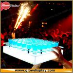 Customized LED Acrylic Tray For Shot Glasses for Brand Advertisement