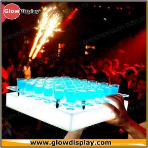 China Customized LED Acrylic Tray For Shot Glasses for Brand Advertisement on sale