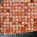 natrual貝、ガラス混合されたのnatrual花、ガラス混合された、豪華なdecoraton材料が付いている樹脂のモザイクが付いている樹脂のモザイク。