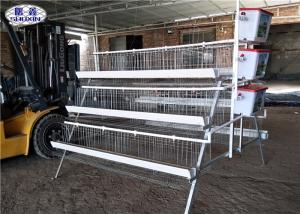 China Automatic Battery Type Breeding Cages 4 Tiers 5 Cells 160 Birds For Uganda on sale