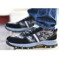 China Lace Up Lightweight Industrial Safety Shoes Mesh Fabric Camouflage Color on sale
