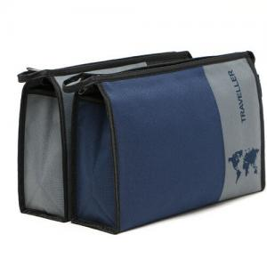 China Promotional Polyester Cosmetic Wash Bags For Men 23*18*7 cm SGS on sale